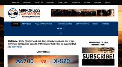 mirrorlesscomparison.com - mirrorless comparison -  mirrorless cameras go head-to-head!