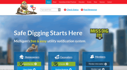 Welcome To Missdig Org Michigan Utility Notification Center Miss Dig System We make it easy for you to request public utility lines to be marked so you can safely complete your digging project. welcome to missdig org michigan utility notification center miss dig system