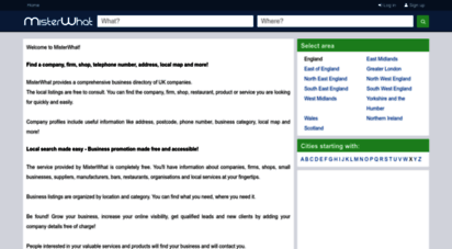 misterwhat.co.uk - uk small business directory - find local uk companies, firms, shops and more - misterwhat