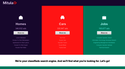 mitula.pk - a search engine for classified ads of real estate, cars and jobs  mitula