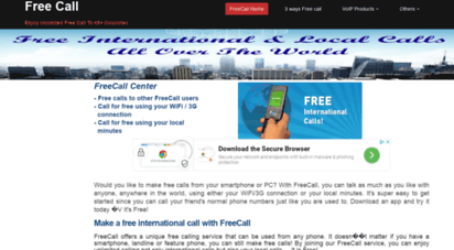 Welcome to Mobilecall4free com - Free Unlimited International Mobile