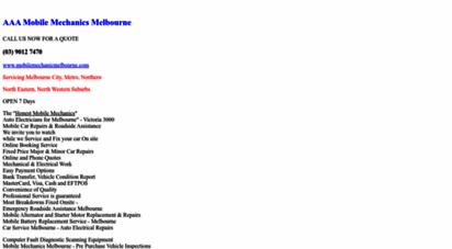 Welcome to Mobilemechanicmelbourne com - Mobile Mechanic | Auto