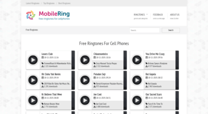 mobilering.net - download free mp3 ringtones for your cellphone. free music for mobile phones