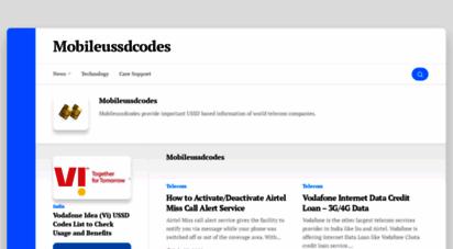mobileussdcodes.com - mobile ussd codes • telecom network ussd information