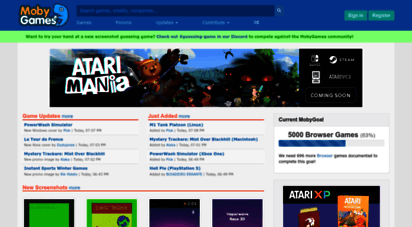 mobygames.com - video games database. credits, trivia, reviews, box covers, screenshots - mobygames