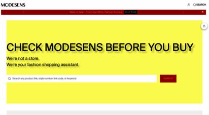 modesens.com - the premier shopping ssistant  modesens