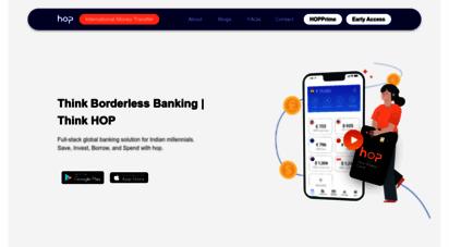 moneyhop.co - india´s first cross border neo-bank - hop