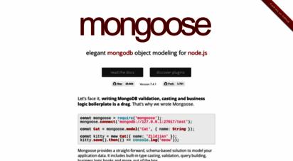 mongoosejs.com - mongoose odm v5.10.0