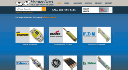 monsterfuses.com - monster fuses 888 444-4335 - all major brands of 2,300 volt fuses  obsolete switchgear parts