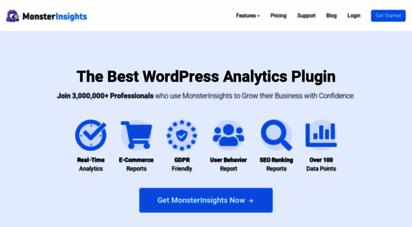 monsterinsights.com - monsterinsights - the best google anlytics plugin for wordpress
