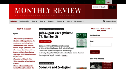monthlyreview.org - monthly review  an independent socialist magazine