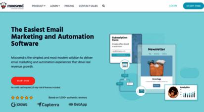 moosend.com - email marketing automation platform for thriving businesses