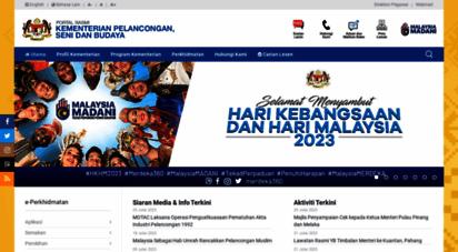 motac.gov.my - portal rasmi kementerian pelancongan, seni dan budaya malaysia