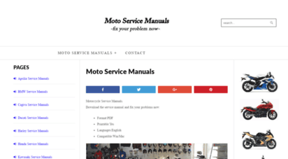 motoservicemanual.com - motorcycle service repair manuals pdf download