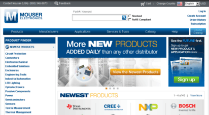 mouser.com - electronic components distributor - mouser electronics europe