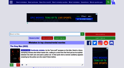 moviemistakes.com - movie mistakes - goofs, bloopers, pictures, quotes and trivia from thousands of movies