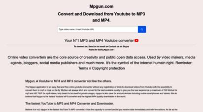 mpgun.com - youtube to mp3 & mp4 converter - mpgun youtube converter