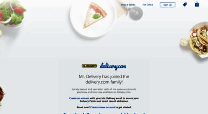 mrdelivery.com - restaurant delivery - mr. delivery  online ordering