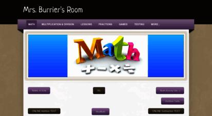 mrsburrier.weebly.com - mrs. burrier´s room - math
