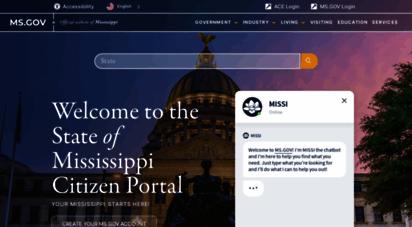 ms.gov - homepage  ms.gov