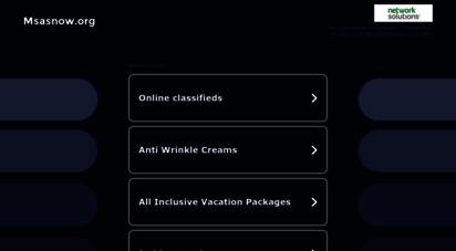 msasnow.org - welcome to msa