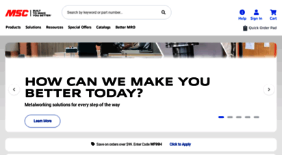 mscdirect.com - msc industrial supply - metalworking tools and mro supplies