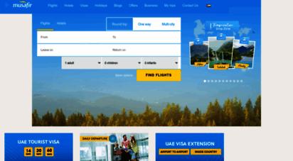musafir.com - cheap flights, hotels, holiday packages, visa - musafir uae