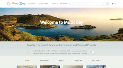 music-bay.net - music bay - royalty free music library. background music for video