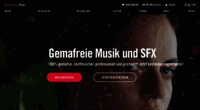 musicfox.com - gemafreie musik - professionell produziert, 100 gemafrei und preiswert.