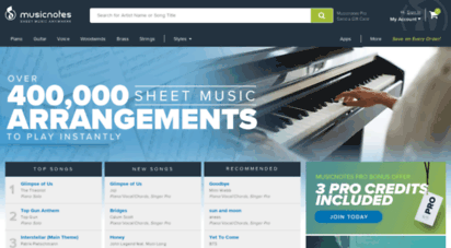 musicnotes.com - sheet music downloads at musicnotes.com
