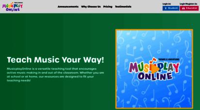 musicplayonline.com - musicplayonline  online resources for elementary music teachers