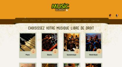 musicscreen.be - musiques libres de droits - free music stock