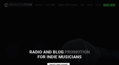 Welcome to Musicsubmit com - Music Promo for Indie Bands