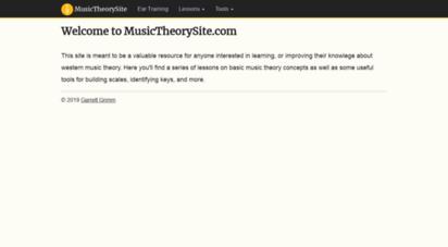 musictheorysite.com - musictheorysite.com - quick tutorials & tips on music theory, constructing chord progressions, and improvisation.