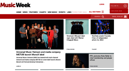 musicweek.com - latest news, anlysis, opinions and charts from the music industry  music week
