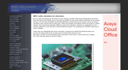 mustcalculate.com - online calculators for electronics  mustcalculate