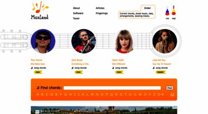 muzland.info - correct chords, lyrics, song chords, guitar chords  muzland.info