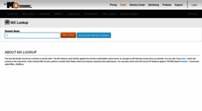 mxtoolbox.com - mx lookup tool - check your dns mx records online - mxtoolbox