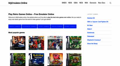 myemulator.online - ▷ play retro games online free  myemulator.online