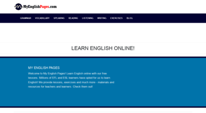 myenglishpages.com - learn english - grammar, vocabulary, speaking, exercises, lessons.