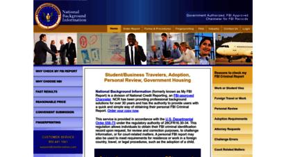 myfbireport.com - my fbi report - home page