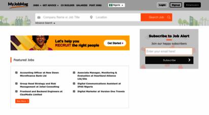myjobmag.com - jobs in nigeria 2020 - latest job vacancies in nigeria  my jobmag