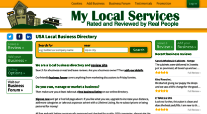 mylocalservices.com - local business listings, usa business directory & free marketing forum  my local services