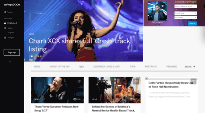 myspace.com - featured content on myspace