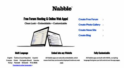 nabble.com - nabble • free forum • embeddable web apps