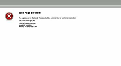 nadra.gov.pk - nadra pakistan - national database & registration authority official website