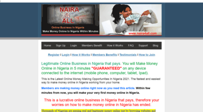 naira4all.com - make money online in nigeria within 5 minutes without investment working from home