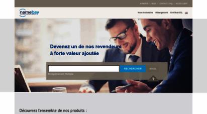 namebay.com - achat nom de domaine particulier entreprise revendeur - namebay
