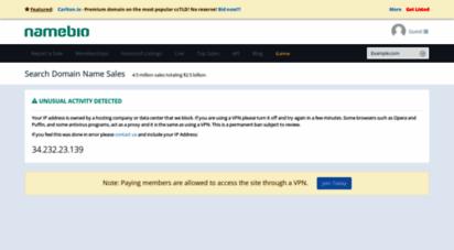 namebio.com - domain name sales history - namebio