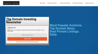 nameclerks.com - nameclerks - domain name deals and coupons